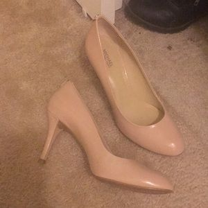 Shoes - MK nude heels. Size 8.